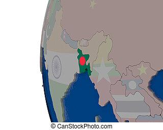 Bangladesh with national flag