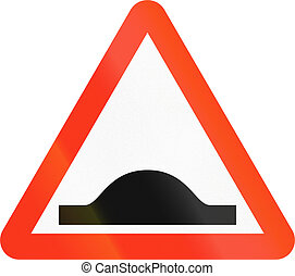 Bangladeshi Speed Bump Sign - A Bangladeshi road sign...