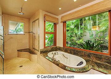banheiro, em, repouso luxuoso