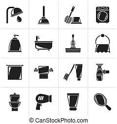 banheiro, higiene, ícones