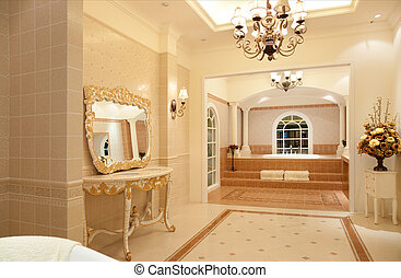 banheiro, mestre, luxo