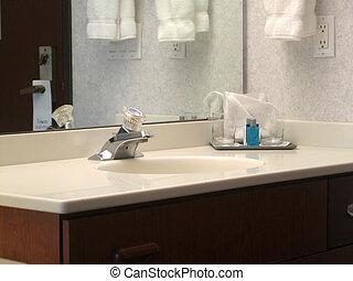 banheiro, quarto hotel