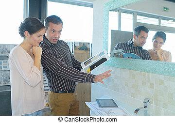 banheiro, torneira, furnishings, escolher, lar, loja varejo