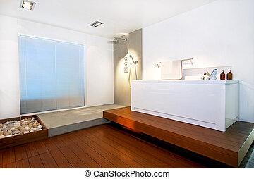 banho, 2, madeira