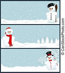 banieren, 3, kerstmis