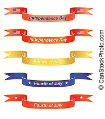 banieren, dag, onafhankelijkheid
