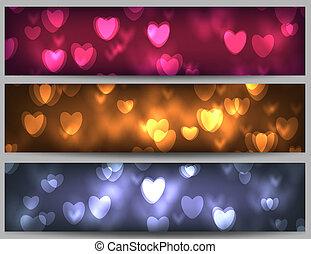banieren, dag, valentijn