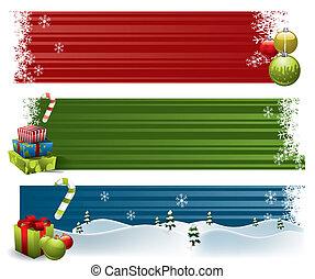 banieren, kerstmis