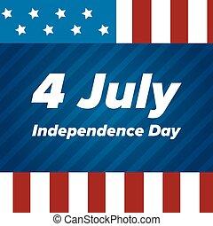 banieren, usa, onafhankelijkheid dag