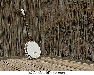 Banjo - 3D render