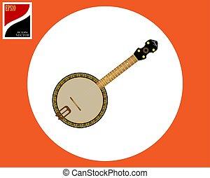 banjo american tool - banjo stringed American instrument in...