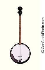 Banjo - Folk musical instrument in realistic style