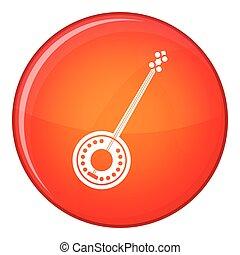 Banjo icon, flat style