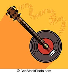banjo musical instrument icon