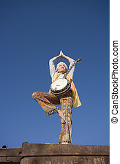Banjo Player in a Yoga Pose
