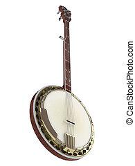 Banjo isolated on white background
