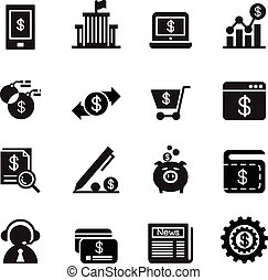 bankügylet,  internet, ikonok