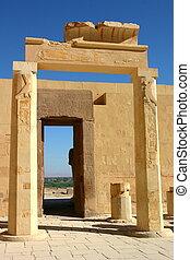 bank., 西, ルクソール, hatshepsut., egypt., 寺院