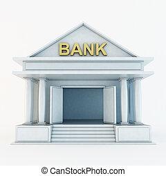 bank, 3d, ikona