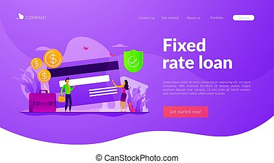 Bank account landing page template - Credit card security,...