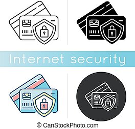 Bank account security icon. Money fraud protection. Credit ...