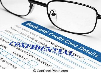 Bank and credit card application