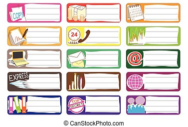 Bank and Stock market Icon symbol sticker note color