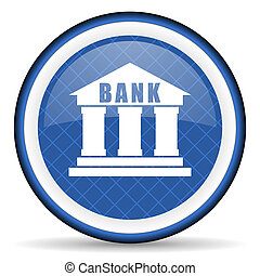 bank blue icon
