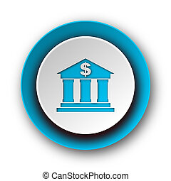 bank blue modern web icon on white background