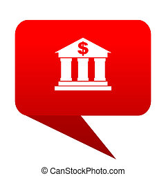 bank bubble red icon
