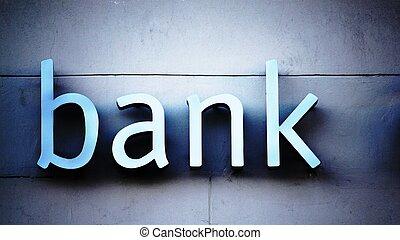 bank, buero, zeichen