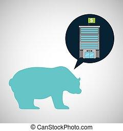 bank building finance bear sell