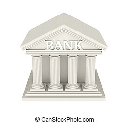 Bank Building Isolated