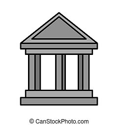 bank building isolated icon
