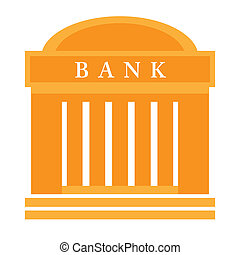Bank building isolated on white background, vector ...