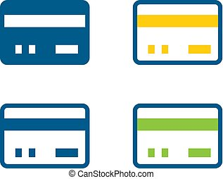 Bank card icons
