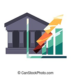 bank chart arrow