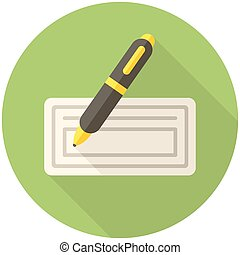 Bank check icon