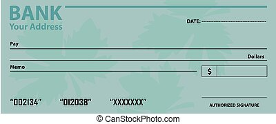 Bank check template