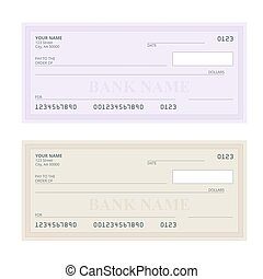 Blank bank check template and pen isolated on black vectors bank check with modern design flat illustration cheque book on colored background bank pronofoot35fo Gallery