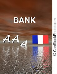 bank and aaa and flag France