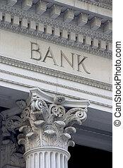 Bank Column - Neoclassical architechture sports a column...