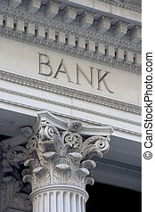 Bank Column - Neoclassical architechture sports a column...