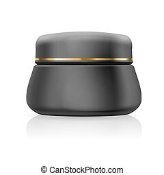 Bank black cream or gel isolated on a white background