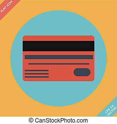 Bank credit cards - vector illustration.