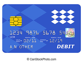 Bank debit card mock up isolated on white. - Everything on...