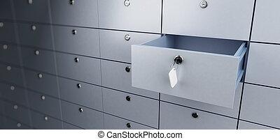 bank deposit  - opened empty bank deposit cell