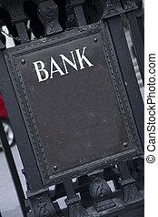 Bank Entrance Sign