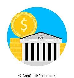 Bank financial capitalization icon