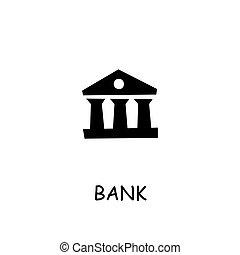 Bank flat vector icon